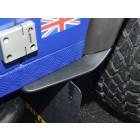 Dirt D-Fenders - Rear of front wheel